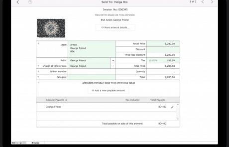 Invoice line item detail